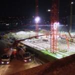 Juli 2002 - Betonage Bodenplatte 2400m³ d=1,5m
