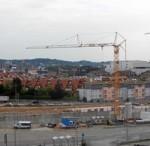 Baustellenansicht im September 2008