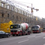 Anlieferung des Beton für die Wilhelmgalerie
