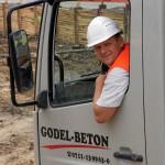 Anlieferung von Godel-Beton