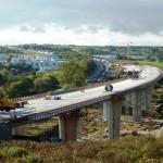 Neuer Brückenabschnitt über die Nöttinger Senke