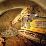 Tunnelbagger im Einsatz