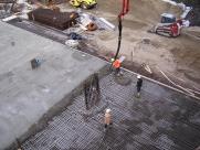 Einbau des Betons